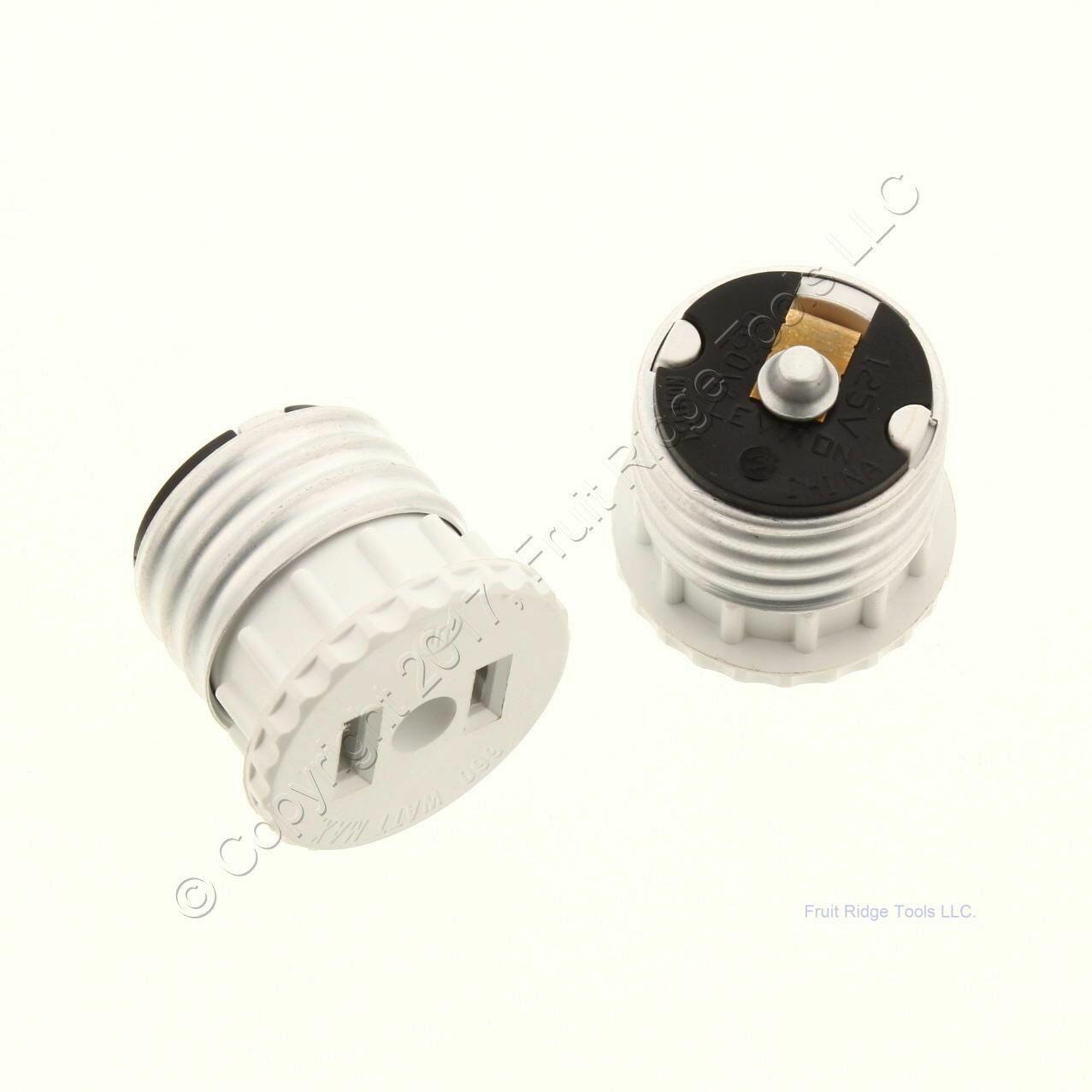 Ace Ivory Beige Plug-In Light Socket Outlet Adapter Lamp Holder Plug Bulk 31176