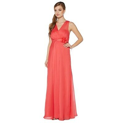 wholesale really comfortable reputable site Debenhams Debut Bright coral maxi dresses, (missing corsage and sash) | eBay