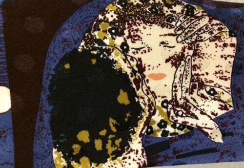 "The Kiss GUSTAV KLIMT BLUE SILK TIE 57/"" NWOT Gallery Collection Christina Desire"