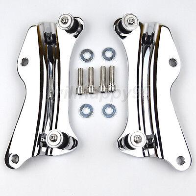 Chrome 4 Point Docking Hardware Kit Fit for Harley  Passenger Backrest 14-19