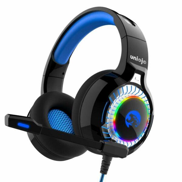2019 Nieuwe Stijl Uniojo A60 Gaming Headset, Stereo Gaming Headphones For Ps4, Pc, Xbox One, Profe Comfortabel En Gemakkelijk Te Dragen