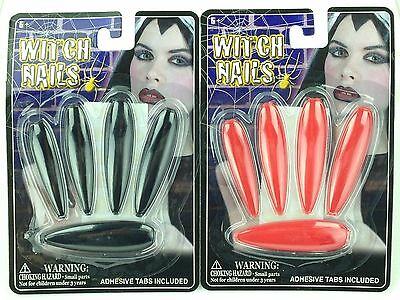 Costume Fingernails Witch Press On Finger Nails Theater Halloween Party Gag Gift