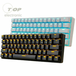 Rk61 Bluetooth Wired Dual Mode 60 Rgb Mechanical Gaming Pc Keyboard Ebay