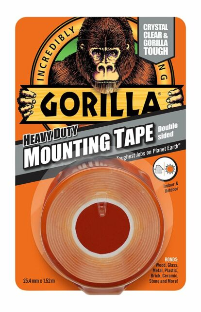 Gorilla Glue 3044101 1.5 m Heavy Duty Double Sided Mounting Adhesive Tape Clear