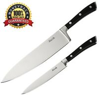 Aicok Kitchen Knives Set High Carbon Stainless Steel 8-inch Chef Knife And 5-...