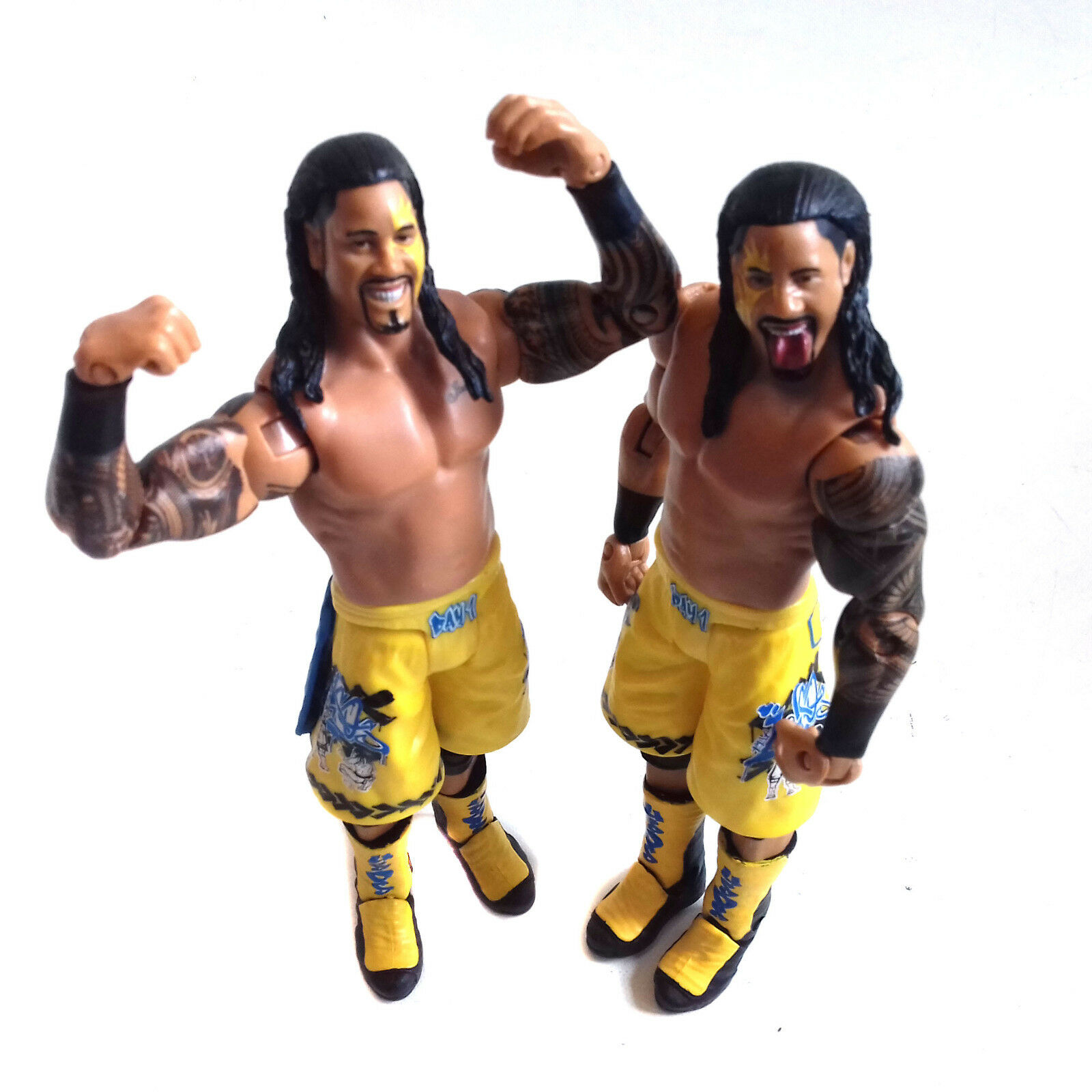 WWF WWE TNA Wrestling  USO BredHERS Tag Team Mattel 6  action figure toy RARE