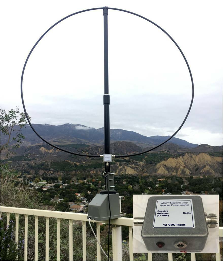 W6LVP Amplified Receive-Only Mag Loop Antenna - With Power Inserter. Buy it now for 295.00