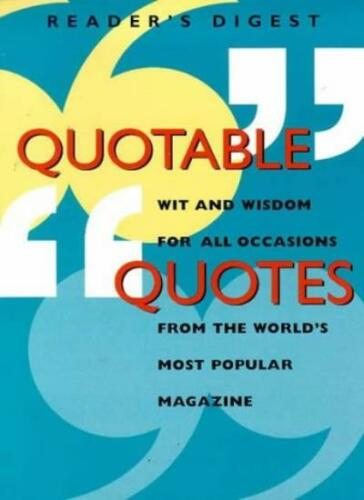 1 of 1 - Quotable Quotes (Readers Digest Magazine),Reader's Digest