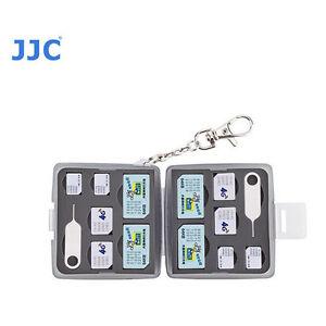 JJC MC-9D Etui Carte Mémoire Compatible Avec 4 SIM 4 Micro Nano SIM Petit T6I
