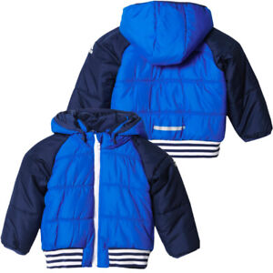 f6f28834e Adidas Baby Boys Kids Padded Hooded Coat Infant Jacket Varsity ...