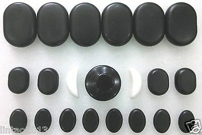 21 pcs SPA Hot Stone Massage Set Basalt Rocks Marble Cool Stone Mushroom Stone
