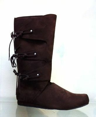 Brown Scottish Highland Wedding Game of Thrones Costume Boots Mens 11 12 13