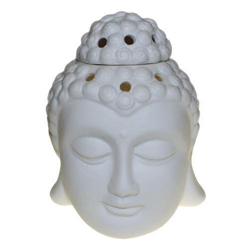 Oriental Black or White Thai Buddha Oil Burner Ornament Buddah Statue Bust