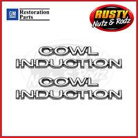 70-72 Chevelle Cowl Induction Hood Emblems Full Set Gm Restoration Parts