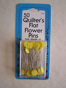 YELLOW Flower Head Pins Quilting Sewing 50 pc NEW | eBay : flower head pins quilting - Adamdwight.com