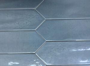 Image Is Loading 3x12 Modena Collection Blue Glazed Ceramic Tile Backsplash