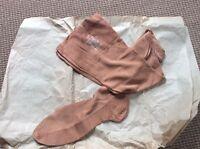 Vintage Morley Silk Seamed Stockings Seconds Foot Size 10 Medina