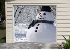 Christmas Decor Single Garage Door Covers 3D Banner Art Outdoor Snowman GD116