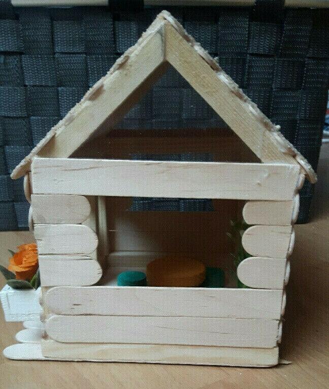 Gartenhaus    1 12  Handarbeit  Breit 14 5cm  Tief 14 5cm  Hoch 17cm 454966