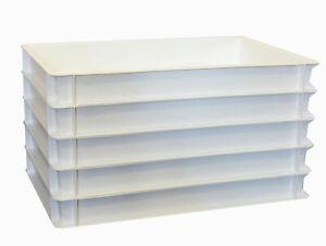 FidèLe 5 Pièces Pizzaballenbox Blanc Euro-box Eurobox Boîte De Rangement 60x40x7 Gastlando-ox 60x40x7 Gastlando Fr-fr Afficher Le Titre D'origine