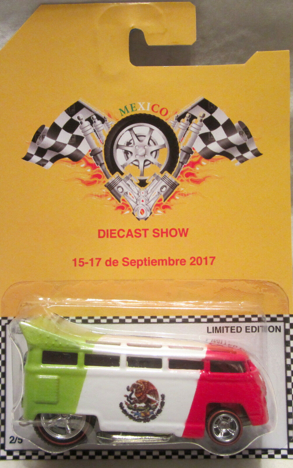 heta hjul CUCOM VW T1 DRAG buss 2017 Mexico tärningskast Show Real Riders  5 Made