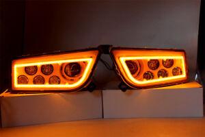 WHITE LED HALO HEADLIGHTS CONVERSION RZR 1000 STYLE 15-18 POLARIS RZR 900S