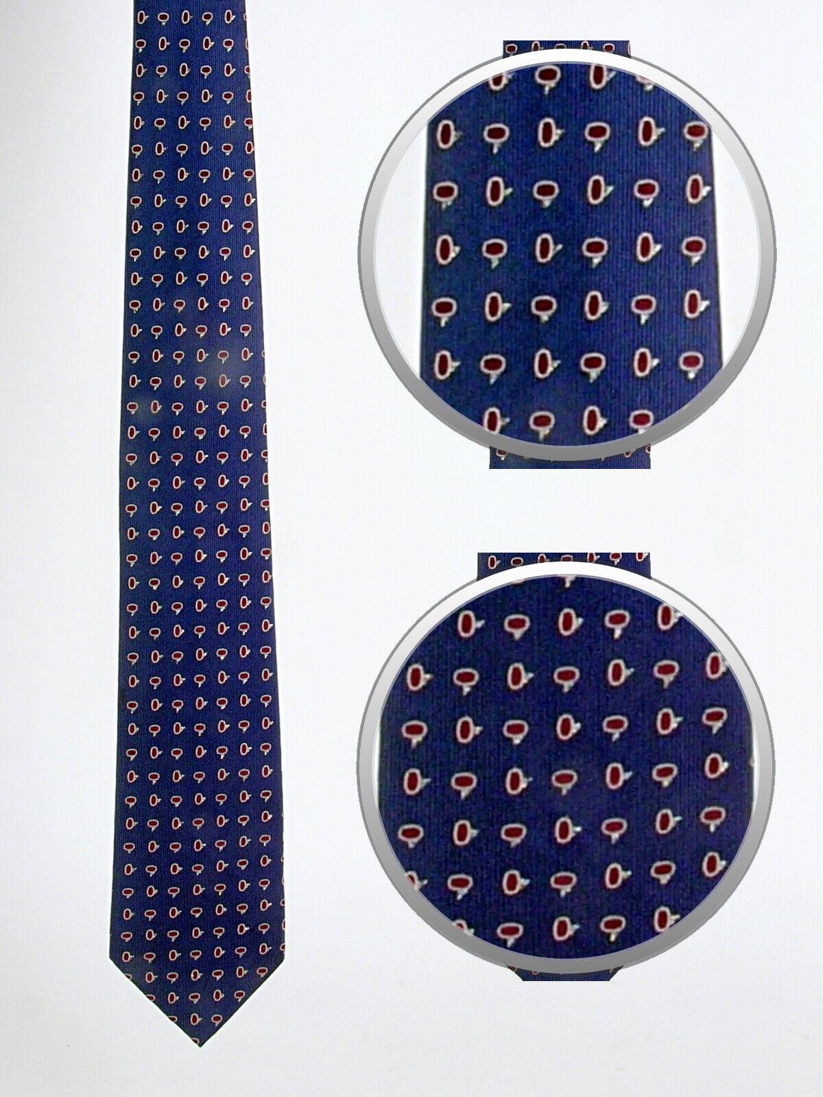 Festliche Krawatte blau, violett, gemustert · Seide · Neu