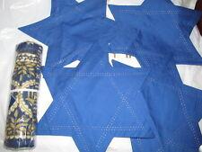 "Pottery Barn Hanukkah Metallic  Table Throw, 50"" ,4 STAR OF DAVID MATS"