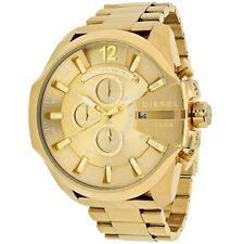 OROLOGIO DIESEL Mega Chief DZ4360 Cronografo Acciaio IP Oro Gold Uomo Man NEW