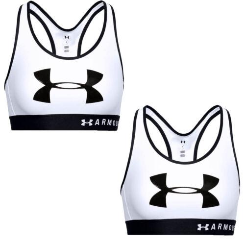 Under Armour UA Womens Sports Bra Mid Keyhole Crossback Gym Yoga Bras White