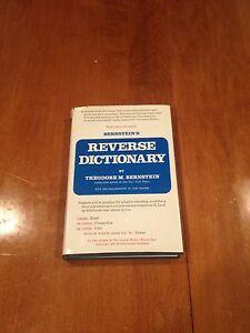 Bernstein-039-s-Reverse-Dictionary-by-Theodore-M-Bernstein-1975-Hardcover