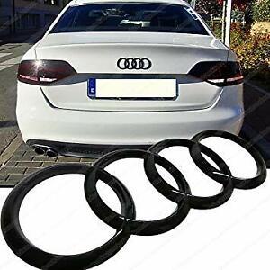 Audi-Gloss-Black-Rear-Bonnet-Boot-Badge-Rings-Q3-Q5-Q7-A6-A7-RS6-SQ7-216mm