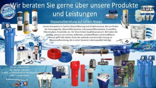 """Manometer Osmose Umkehrosmoseanlage Wasserdruck Druckmesser SYSTEMDRUCK 3//8/"""""""