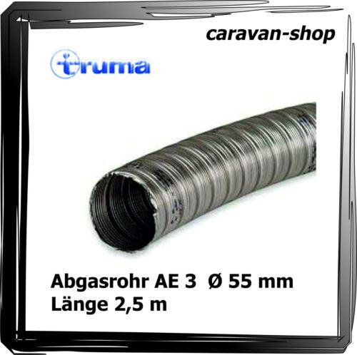 2,5 m truma Abgasrohr AE3 Ø 55 mm für S 3004 S 3002 S 2200 Kamin Dachkamin