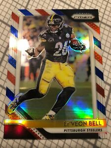 Leveon Bell 2018 Panini Prizm Prizms Red White And Blue 32