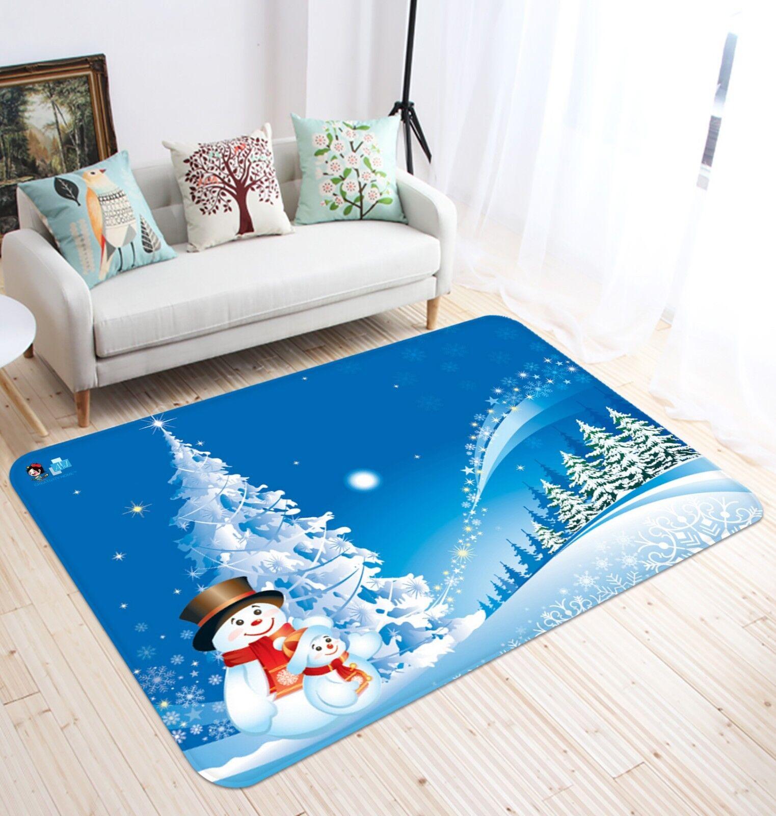 3D Natale Xmas 292 tappetino antiscivolo tappeto camera Tappetino Qualità Elegante foto Tappeto UK