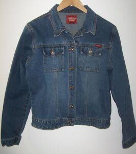 Guess Denim Trucker Jean Jacket Women's Size Large Classic Style Medium Wash