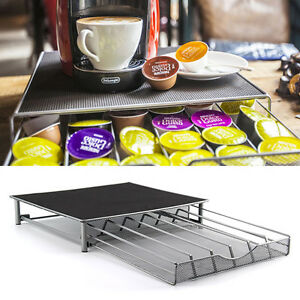 Coffee-Machine-Stand-amp-Capsule-Pod-Storage-Holder-Drawer-Nespresso-Gusto