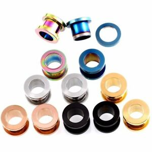 Stainless-Steel-Stretch-Ear-Plugs-Tunnel-Piercing-Screw-Fit-Expansion-Ear-A-Pair