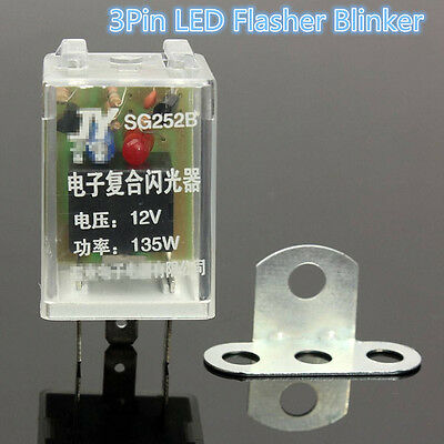 3-pin Electronic LED 12V 135W Flasher Relay Fix Turn Signal Blinker Lamp Unique