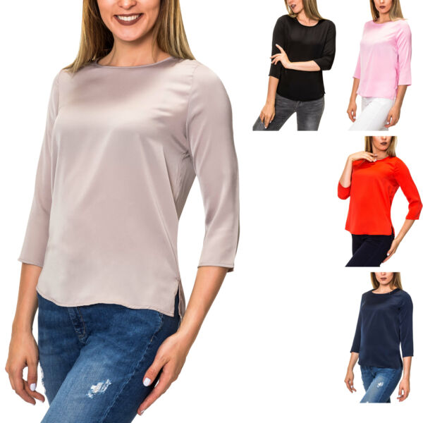 100% De Calidad Only Señora Camisa Manga Larga Camisa Envejecido Túnica Damentop Top Color Mix Sale-ver