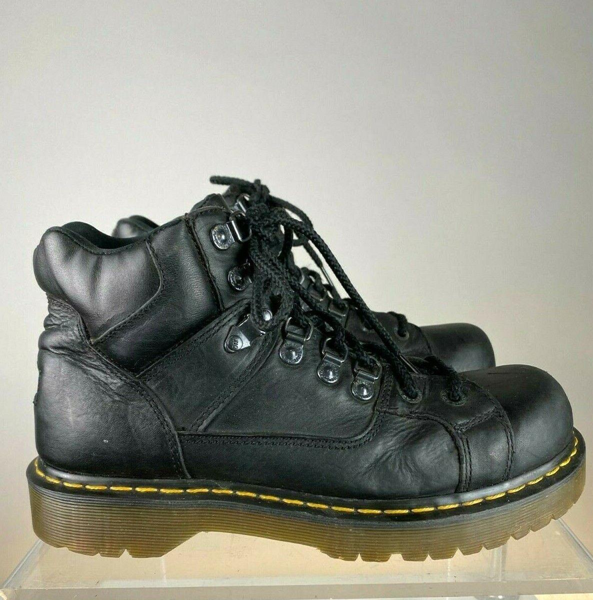 DR MARTEN WORK BOOTS STEEL TOE IN BLACK LEATHER - US10M/ UK9/ EUR43 -21/106