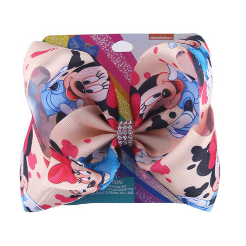 "8/"" Cartoon JoJo Siwa Minnie solid Hair Bow With Alligator Clip Girl kids Bowknot"