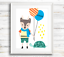 Scandinavian-Woodland-Animal-Prints-Wall-Art-for-Scandinavian-Nursery-Kids-Room thumbnail 2