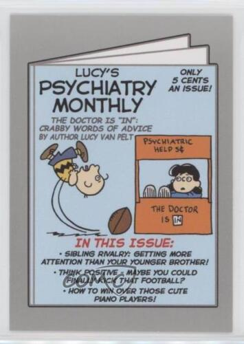 2017 Topps Wacky Packages 50th Anniversary #4 Lucy's Psychiatry Monthly 50 0c4