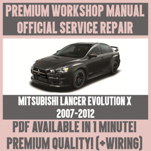 workshop manual service repair for mitsubishi lancer evolution x rh ebay ie lancer evo 9 service manual lancer evo 9 service manual