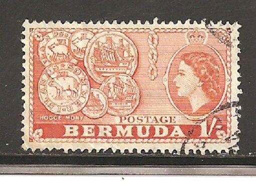 Bermuda Stamps- Scott # 155/A27-1sh-Canc/LH-1953-58