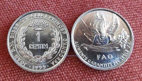 ANDORRA 1 CENTIM 1999 FAO COMMEMORATIVE WINGED ANGEL WHEAT UNC NEW COIN G94