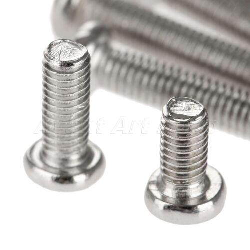 50pcs M3 6-20mm Silver Ni-Plated Bolts Carbon Steel Cross Head Machine Screws