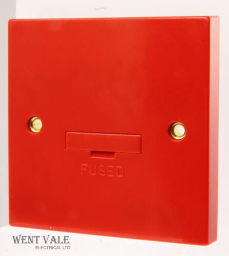 3a Red Un-Switched Fused Connection Unit Base F//O WA049RD Click Essentials